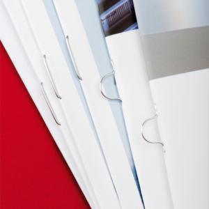 Brochures réalisation Snel - broché avec agrafes plates ou Oméga
